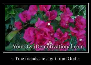 ~ True friends are a gift from God ~