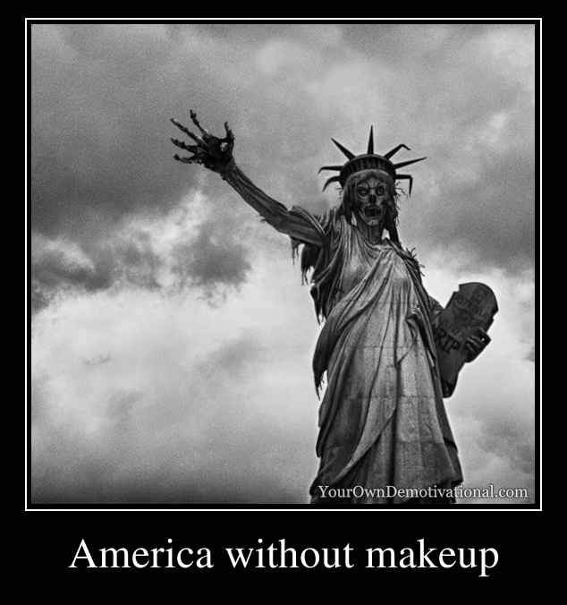 America without makeup