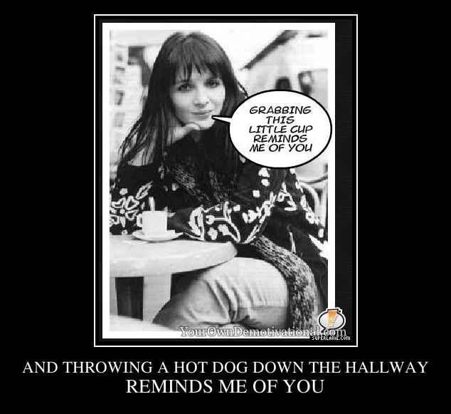 AND THROWING A HOT DOG DOWN THE HALLWAY