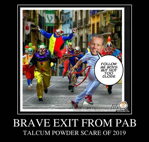BRAVE EXIT FROM PAB