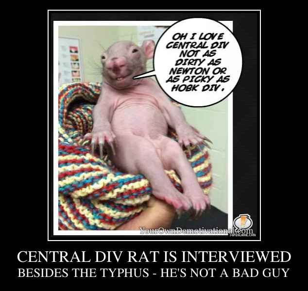 CENTRAL DIV RAT IS INTERVIEWED