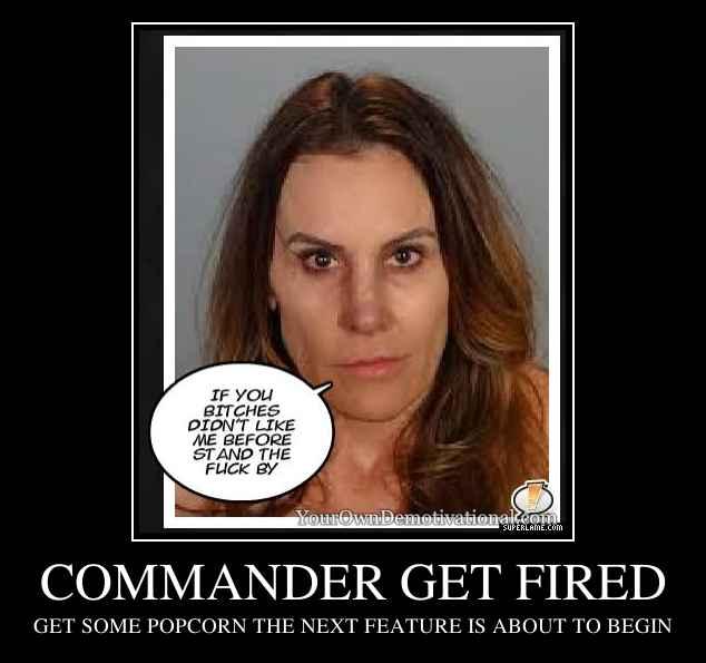 COMMANDER GET FIRED