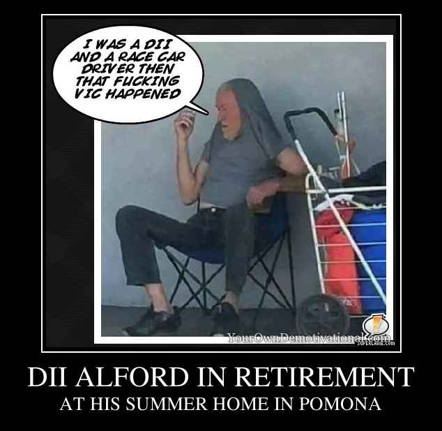 DII ALFORD IN RETIREMENT
