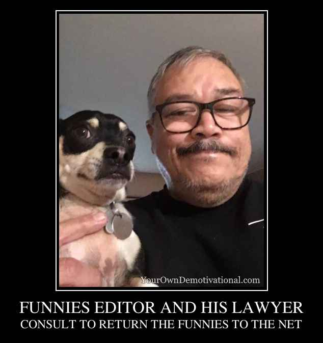 FUNNIES EDITOR AND HIS LAWYER