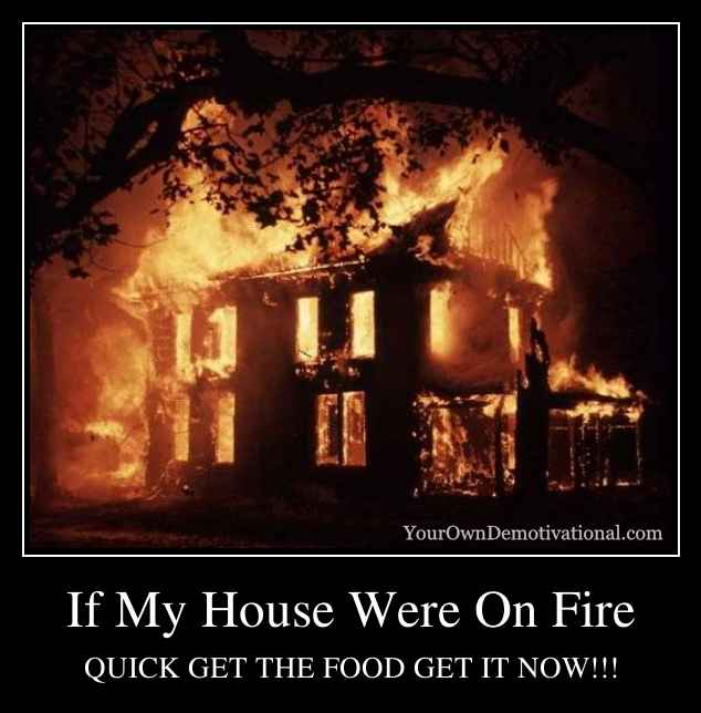 If My House Were On Fire