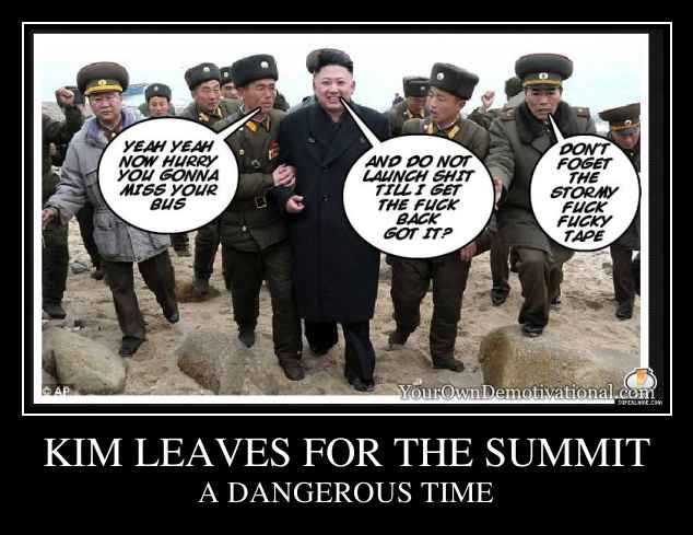 KIM LEAVES FOR THE SUMMIT