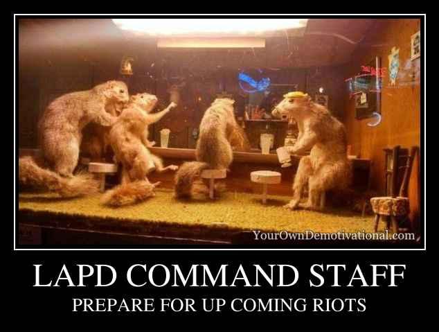 LAPD COMMAND STAFF