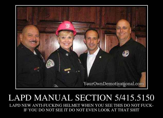 LAPD MANUAL SECTION 5/415.5150