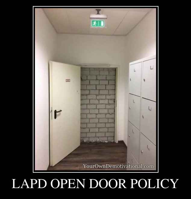 LAPD OPEN DOOR POLICY