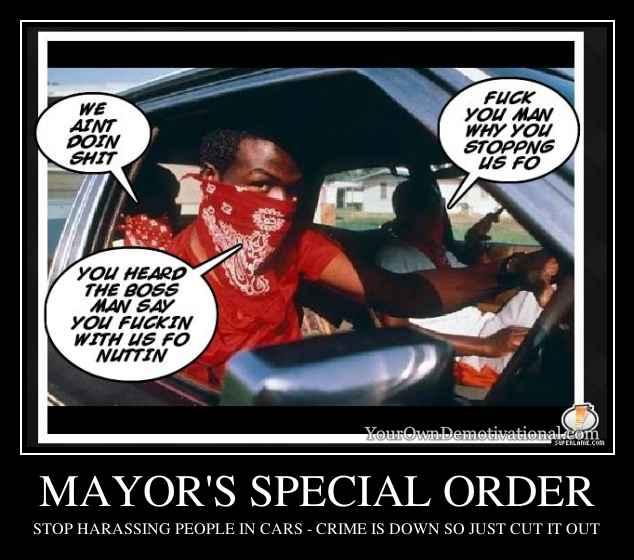 MAYOR'S SPECIAL ORDER