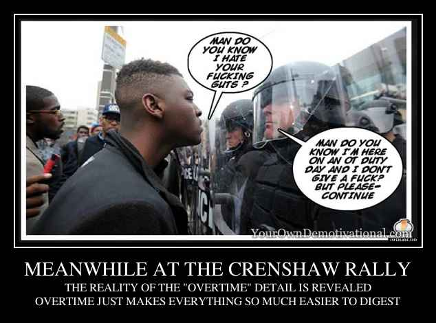 MEANWHILE AT THE CRENSHAW RALLY