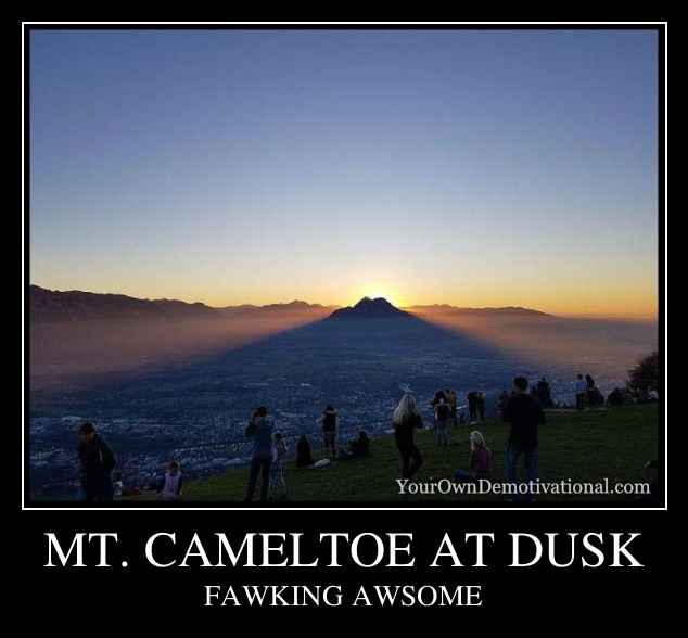 MT. CAMELTOE AT DUSK