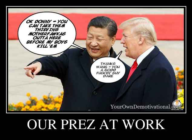 OUR PREZ AT WORK