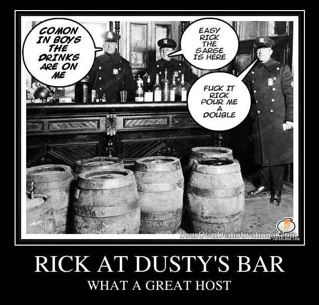 RICK AT DUSTY'S BAR