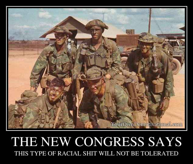 THE NEW CONGRESS SAYS