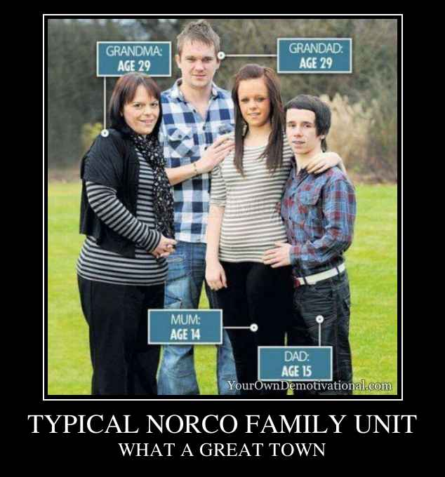 TYPICAL NORCO FAMILY UNIT