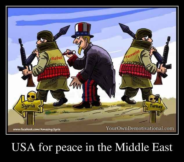 USA for peace in the Middle East