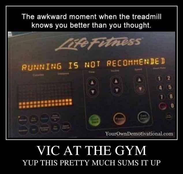VIC AT THE GYM
