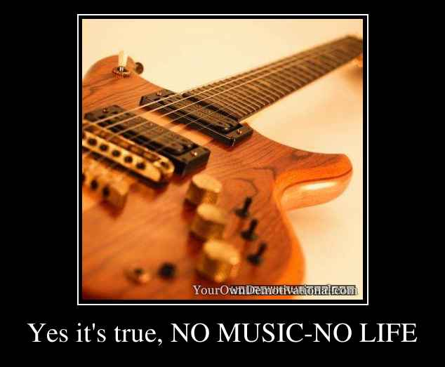 Yes it's true, NO MUSIC-NO LIFE